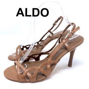 Aldo Strap Heel Sandal Size 39